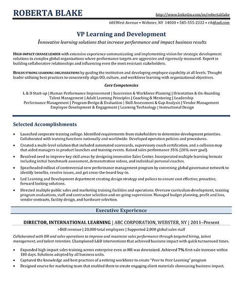 HR Executive sample resume-1
